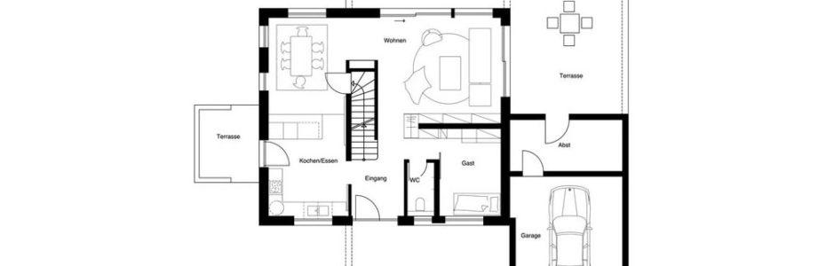 plano de casa pasiva de referencia con gran ahorro energético