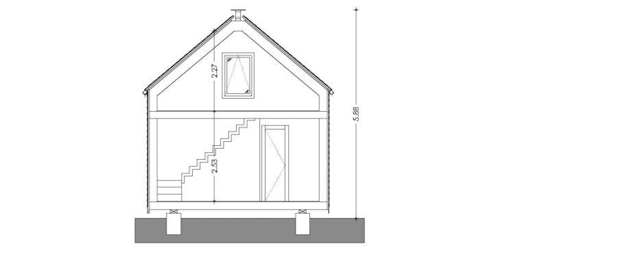 plano de casa de diseño bioclimatico